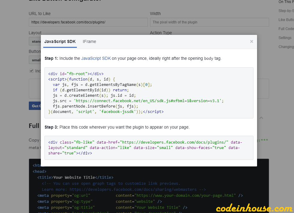 How to Integrate Facebook Like and Share Post Button in Laravel